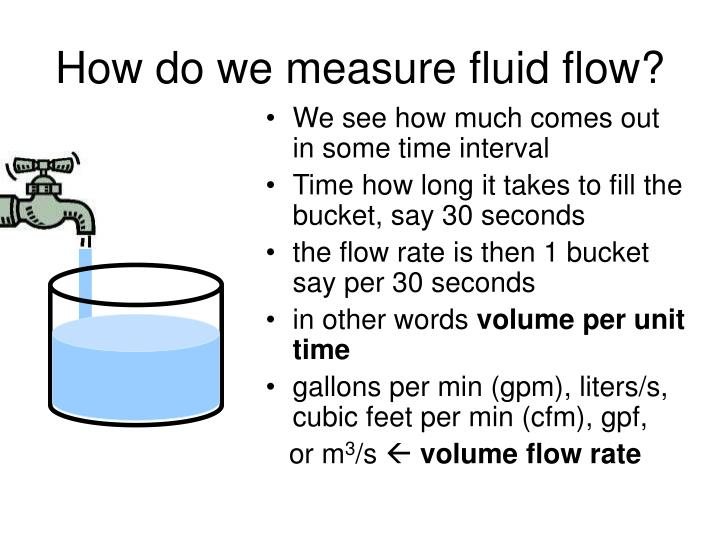 How do we measure fluid flow?