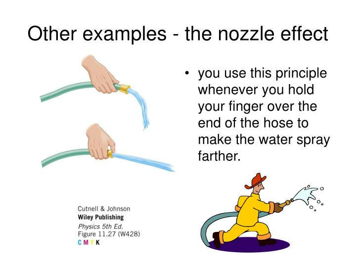Other examples - the nozzle effect