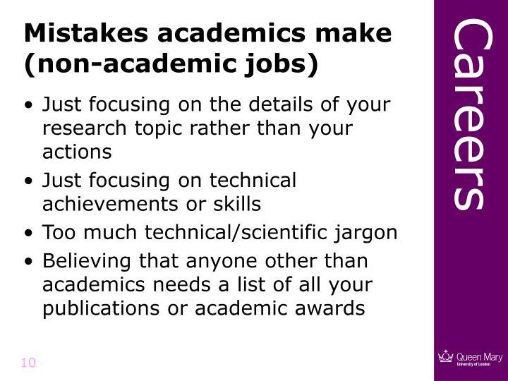 Mistakes academics make