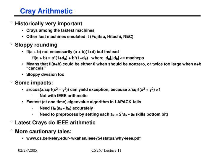 Cray Arithmetic