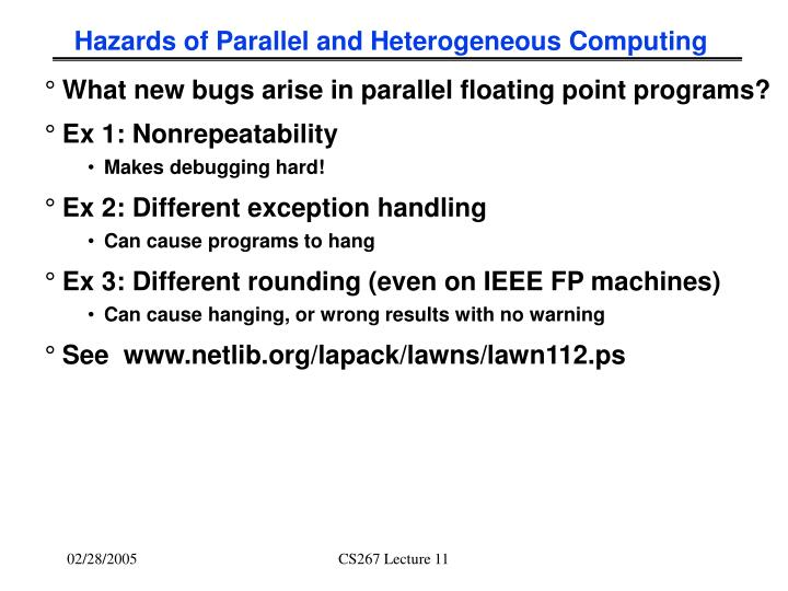 Hazards of Parallel and Heterogeneous Computing