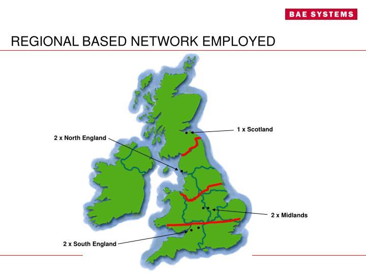 REGIONAL BASED NETWORK EMPLOYED