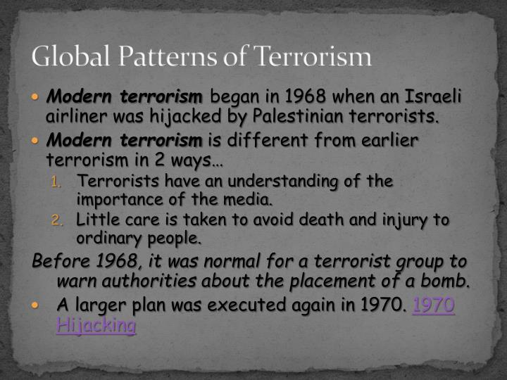 Global Patterns of Terrorism