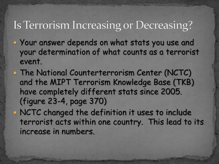 Is Terrorism Increasing or Decreasing?
