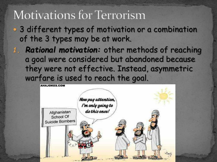 Motivations for Terrorism
