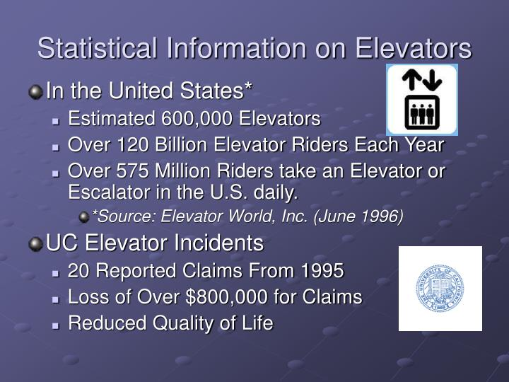 Statistical Information on Elevators