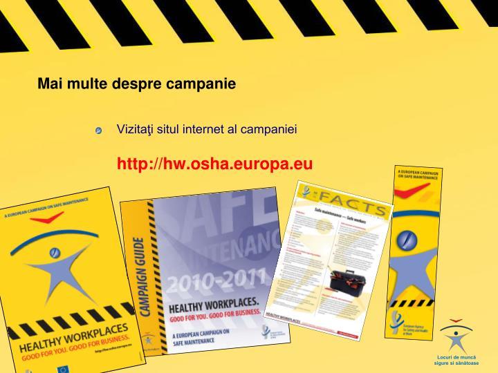 Mai multe despre campanie