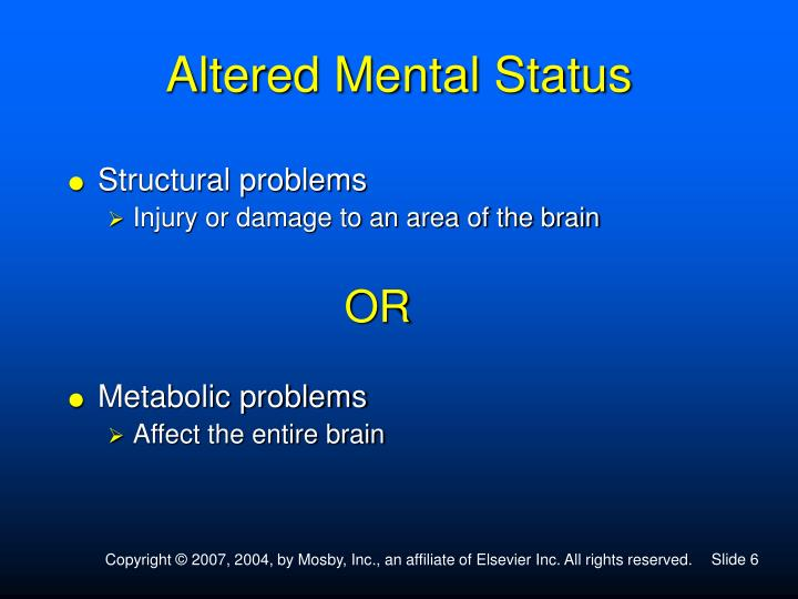 Altered Mental Status