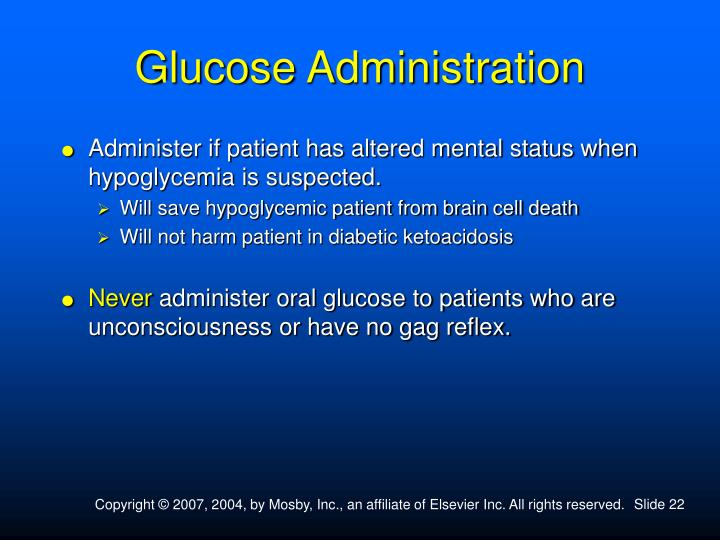Glucose Administration