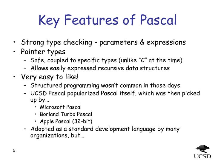 Key Features of Pascal