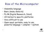 rise of the microcomputer