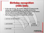 birthday recognition redo task