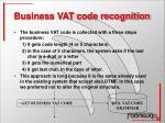 business vat code recognition