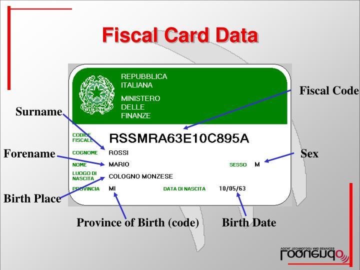 Fiscal Card Data