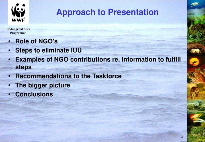Approach to Presentation