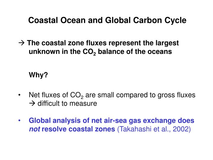 Coastal Ocean and Global Carbon Cycle