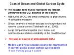 coastal ocean and global carbon cycle3