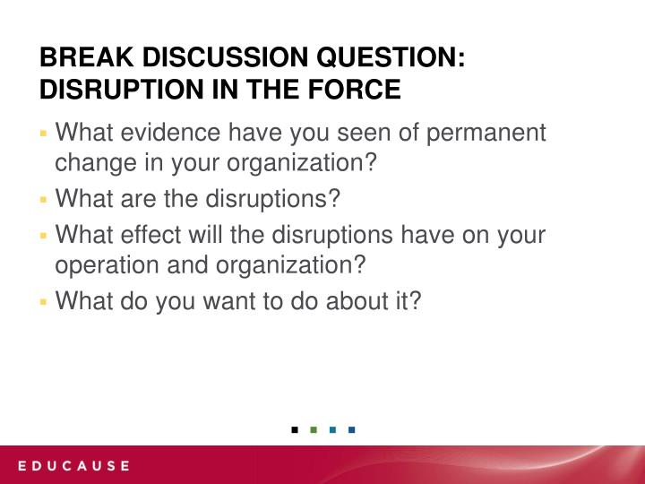 What evidence have you seen of permanent change in your organization?