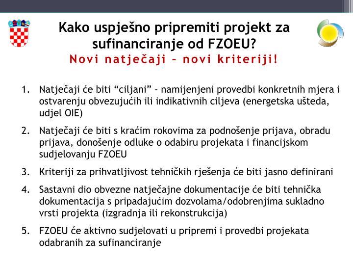 Kako uspješno pripremiti projekt za sufinanciranje od FZOEU?