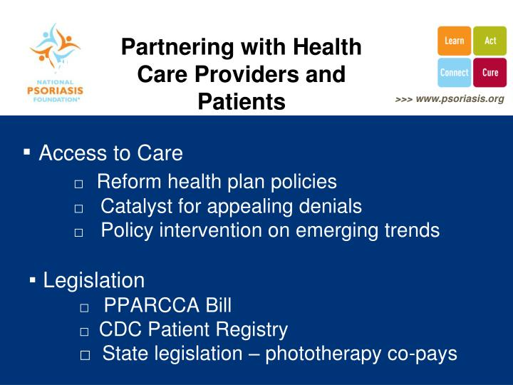 Partnering with Health Care Providers and Patients