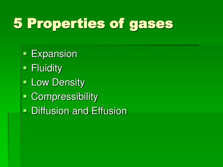 5 Properties of gases