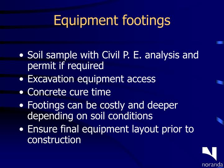 Equipment footings