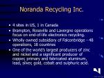noranda recycling inc