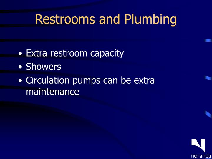 Restrooms and Plumbing