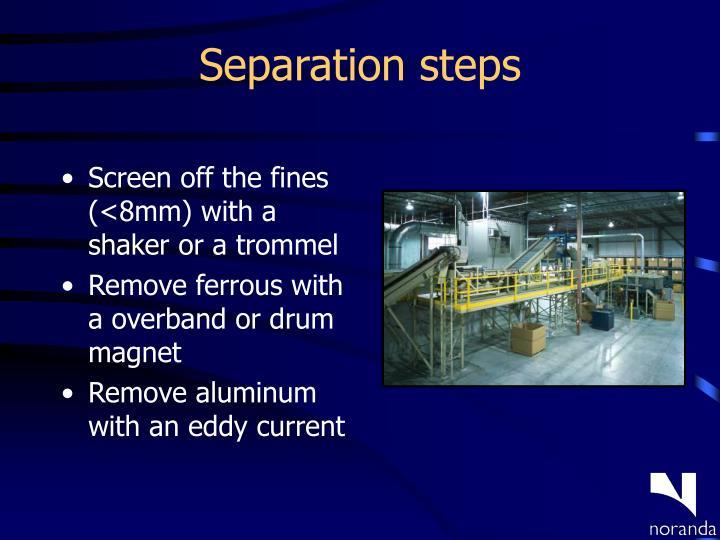 Separation steps