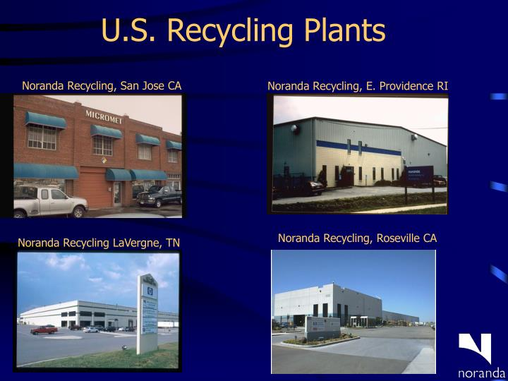 U.S. Recycling Plants