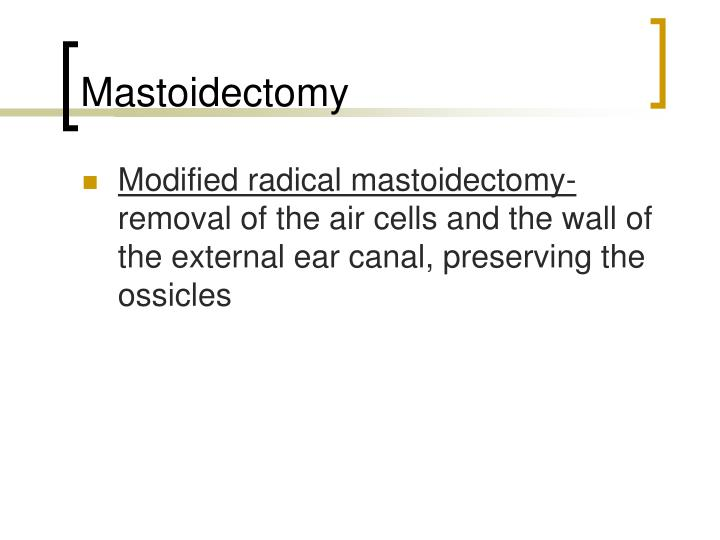 Mastoidectomy