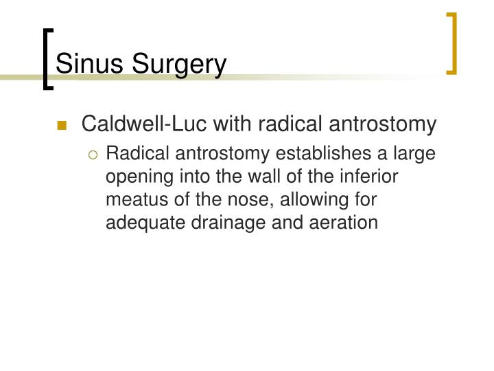 Sinus Surgery