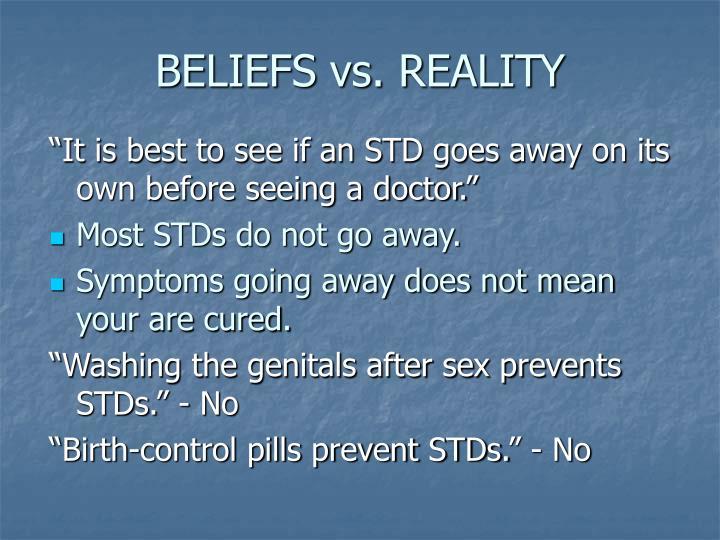 BELIEFS vs. REALITY