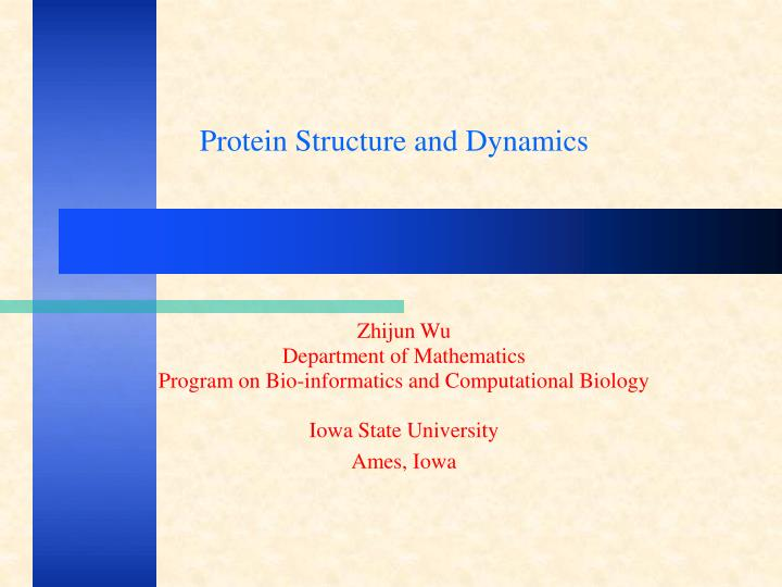 Protein Structure and Dynamics