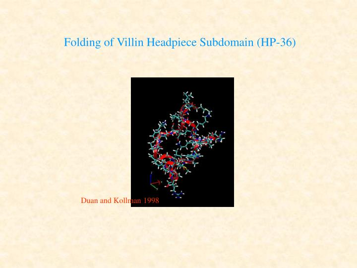 Folding of Villin Headpiece Subdomain (HP-36)