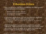 e business drivers