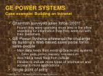 ge power systems case example building an intranet