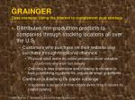 grainger case example using the internet to complement your strategy