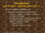 introduction last 20 years strategic uses of it cont1
