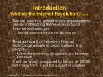introduction whither the internet revolution cont