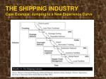 the shipping industry case example jumping to a new experience curve