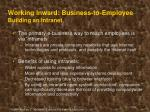 working inward business to employee building an intranet