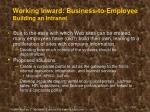 working inward business to employee building an intranet1