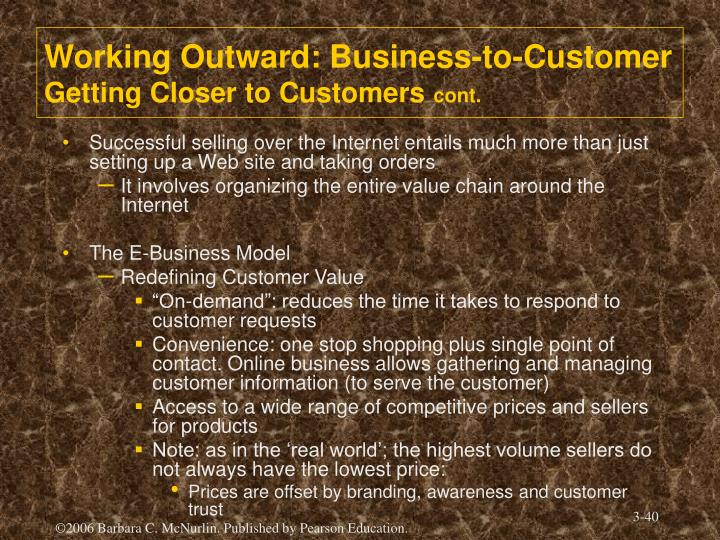 Working Outward: Business-to-Customer