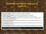 working outward business to customer1