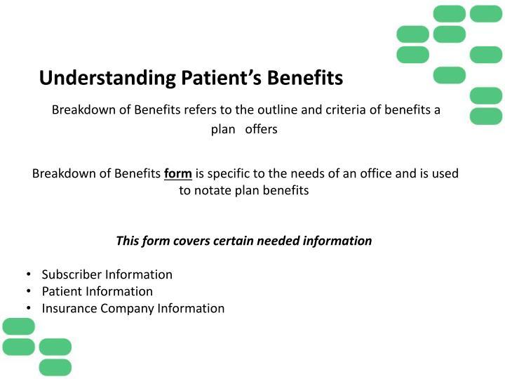 Understanding Patient's