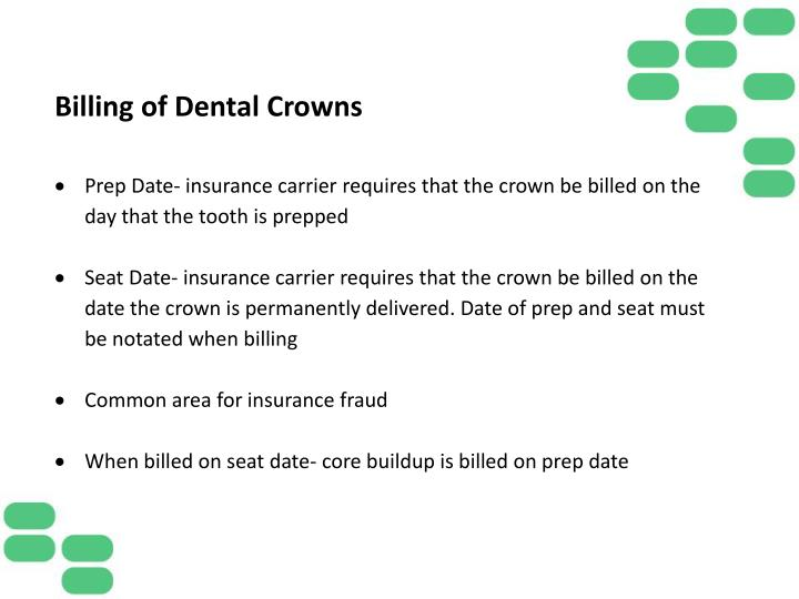 Billing of Dental