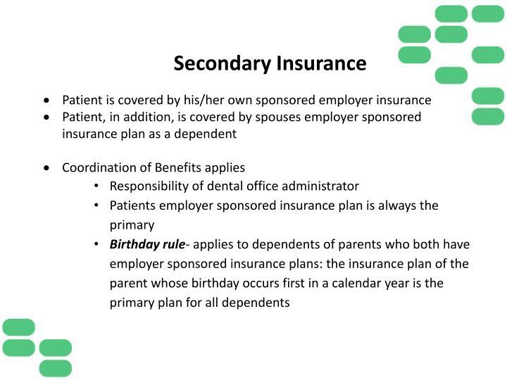 Secondary Insurance