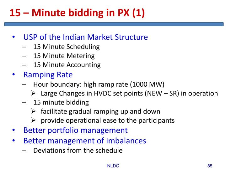 15 – Minute bidding in PX (1)