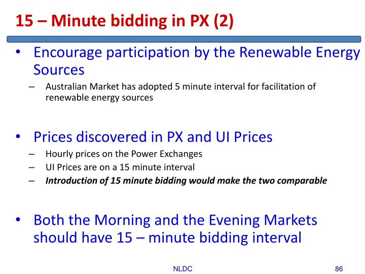 15 – Minute bidding in PX (2)